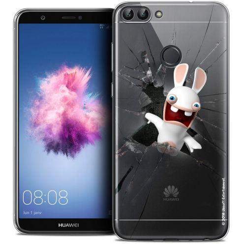 "Coque Gel Huawei P Smart (5.7"") Extra Fine Lapins Crétins™ - Breaking Glass"