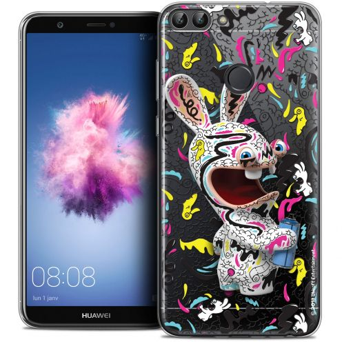"Coque Gel Huawei P Smart (5.7"") Extra Fine Lapins Crétins™ - Tag"
