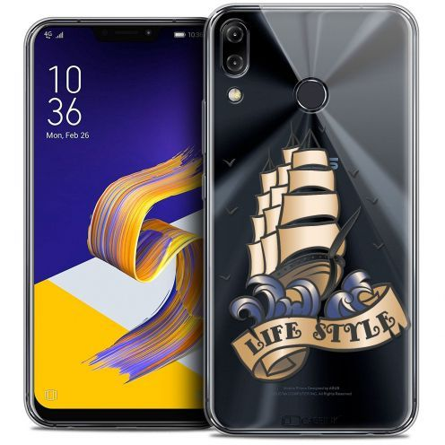 """Coque Crystal Gel Asus Zenfone 5z ZS620KL (6.2"""") Extra Fine Tatoo Lover - Life Style"""