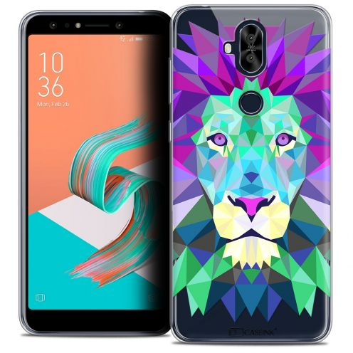 "Coque Crystal Gel Asus Zenfone 5 LITE ZC600KL (6.0"") Extra Fine Polygon Animals - Lion"