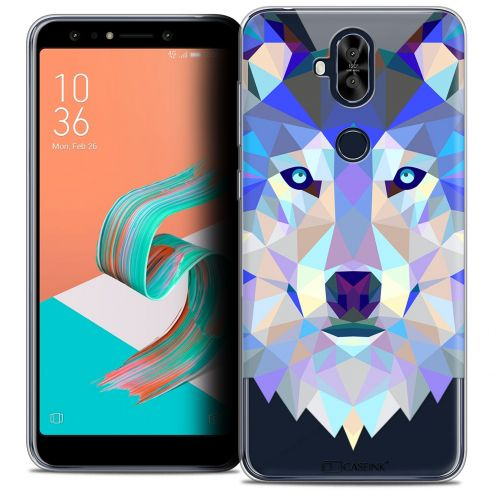 "Coque Crystal Gel Asus Zenfone 5 LITE ZC600KL (6.0"") Extra Fine Polygon Animals - Loup"