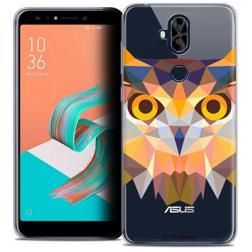 "Coque Crystal Gel Asus Zenfone 5 LITE ZC600KL (6.0"") Extra Fine Polygon Animals - Hibou"