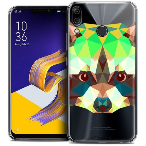 "Coque Crystal Gel Asus Zenfone 5 ZE620KL (6.2"") Extra Fine Polygon Animals - Raton Laveur"