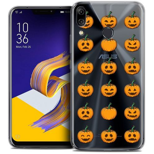 "Coque Crystal Gel Asus Zenfone 5 ZE620KL (6.2"") Extra Fine Halloween - Smiley Citrouille"