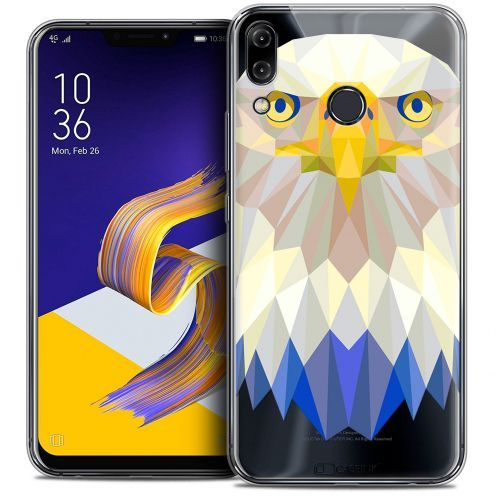 "Coque Crystal Gel Asus Zenfone 5 ZE620KL (6.2"") Extra Fine Polygon Animals - Aigle"