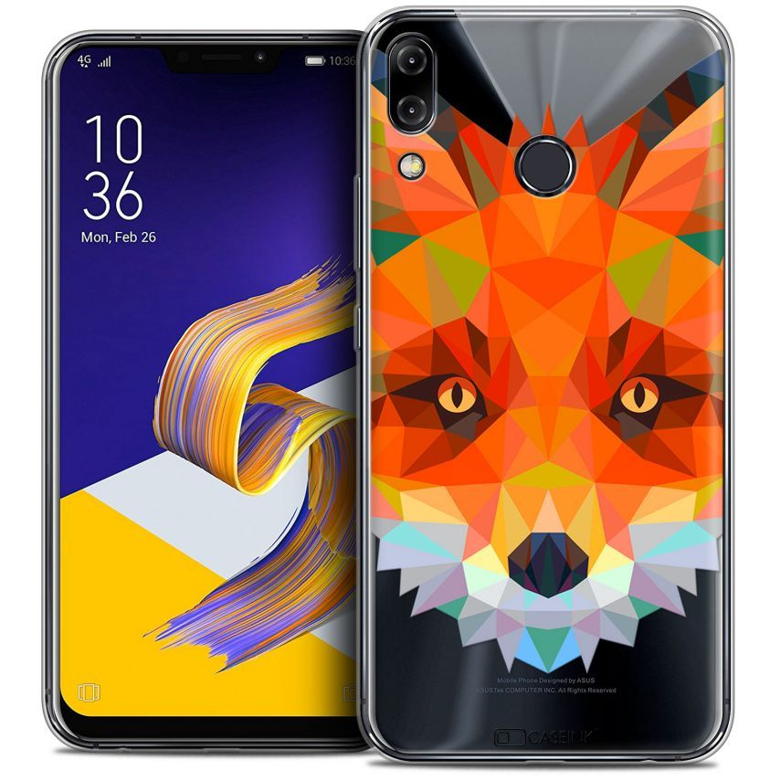 "Coque Crystal Gel Asus Zenfone 5 ZE620KL (6.2"") Extra Fine Polygon Animals - Renard"