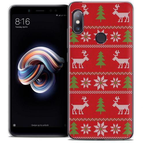 "Coque Crystal Gel Xiaomi Redmi Note 5 (5.99"") Extra Fine Noël 2017 - Couture Rouge"