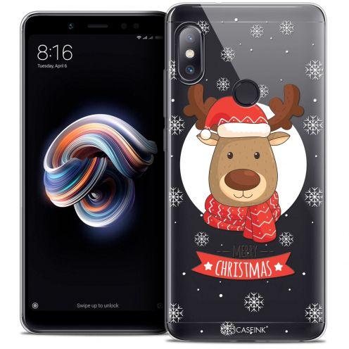 """Coque Crystal Gel Xiaomi Redmi Note 5 (5.99"""") Extra Fine Noël 2017 - Cerf à Echarpe"""