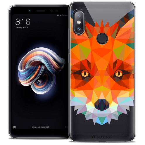 "Coque Crystal Gel Xiaomi Redmi Note 5 (5.99"") Extra Fine Polygon Animals - Renard"