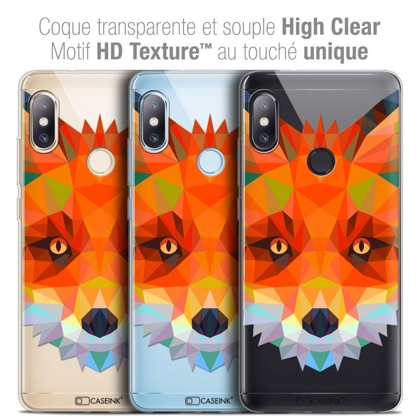 """Coque Crystal Gel Xiaomi Redmi Note 5 (5.99"""") Extra Fine Polygon Animals - Renard"""
