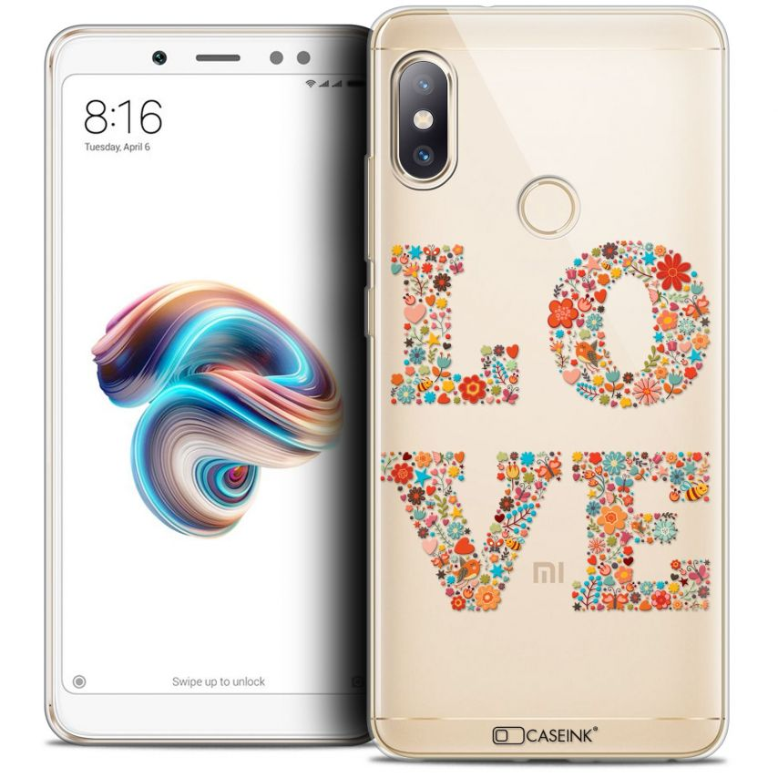 "Coque Crystal Gel Xiaomi Redmi Note 5 (5.99"") Extra Fine Summer - Love Flowers"