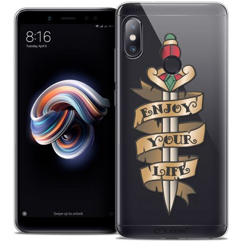 "Coque Crystal Gel Xiaomi Redmi Note 5 (5.99"") Extra Fine Tatoo Lover - Enjoy Life"