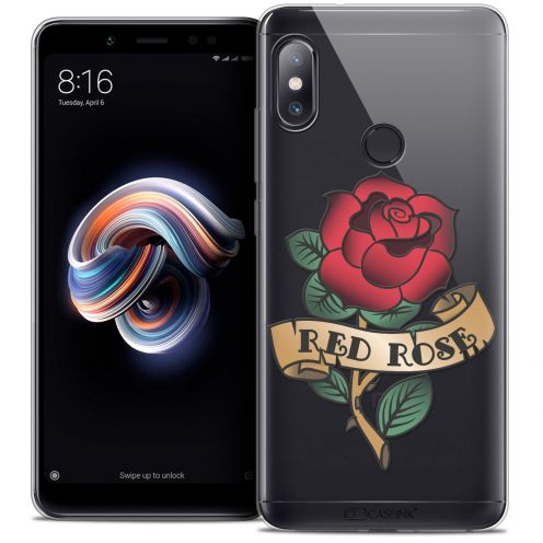"""Coque Crystal Gel Xiaomi Redmi Note 5 (5.99"""") Extra Fine Tatoo Lover - Red Rose"""