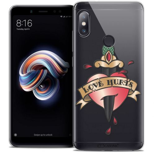 "Coque Crystal Gel Xiaomi Redmi Note 5 (5.99"") Extra Fine Tatoo Lover - Love Hurts"