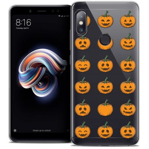 "Coque Crystal Gel Xiaomi Redmi Note 5 (5.99"") Extra Fine Halloween - Smiley Citrouille"