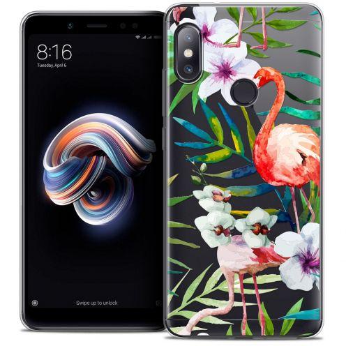 """Coque Crystal Gel Xiaomi Redmi Note 5 (5.99"""") Extra Fine Watercolor - Tropical Flamingo"""