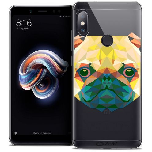 "Coque Crystal Gel Xiaomi Redmi Note 5 (5.99"") Extra Fine Polygon Animals - Chien"