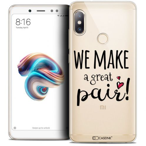 "Coque Crystal Gel Xiaomi Redmi Note 5 (5.99"") Extra Fine Love - We Make Great Pair"