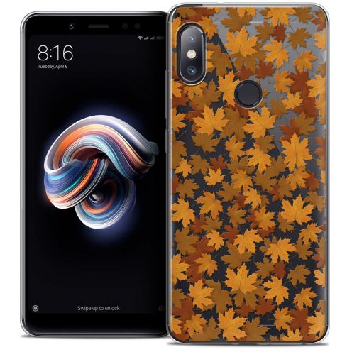 "Coque Crystal Gel Xiaomi Redmi Note 5 (5.99"") Extra Fine Autumn 16 - Feuilles"