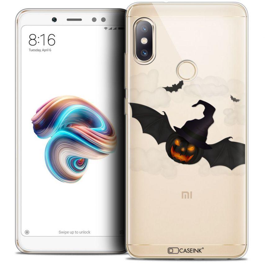 "Coque Crystal Gel Xiaomi Redmi Note 5 (5.99"") Extra Fine Halloween - Chauve Citrouille"