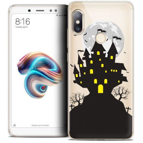 "Coque Crystal Gel Xiaomi Redmi Note 5 (5.99"") Extra Fine Halloween - Castle Scream"