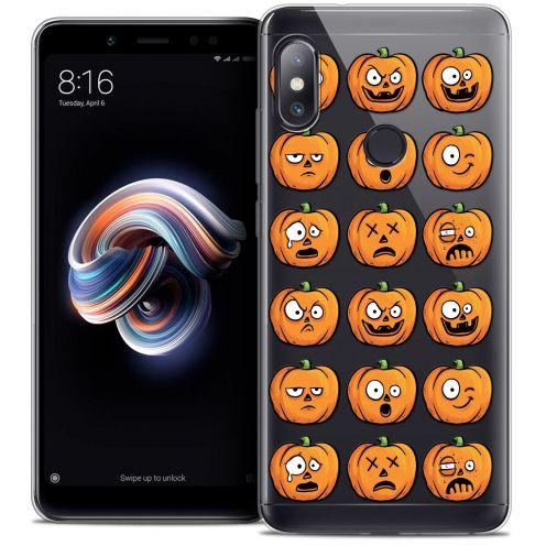 "Coque Crystal Gel Xiaomi Redmi Note 5 (5.99"") Extra Fine Halloween - Cartoon Citrouille"