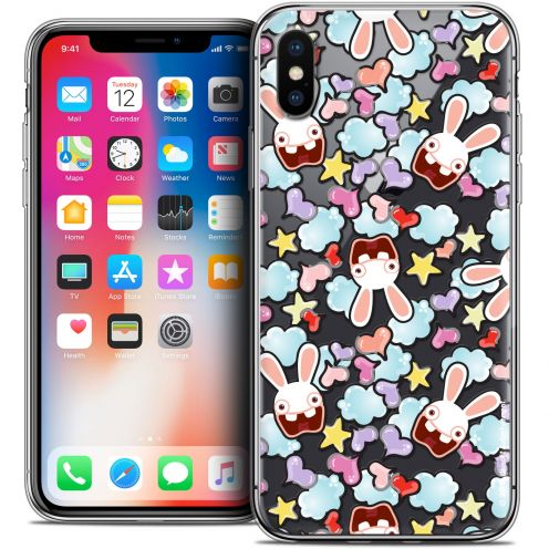 """Coque Gel Apple iPhone Xs / X (5.8"""") Extra Fine Lapins Crétins™ - Love Pattern"""