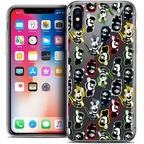 """Coque Gel Apple iPhone Xs / X (5.8"""") Extra Fine Lapins Crétins™ - Punk Pattern"""