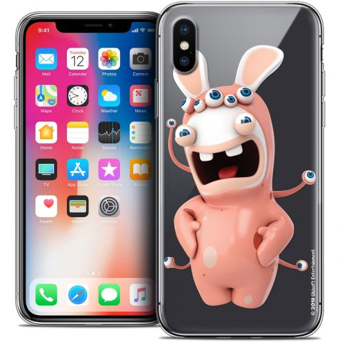 """Coque Gel Apple iPhone Xs / X (5.8"""") Extra Fine Lapins Crétins™ - Extraterrestre"""