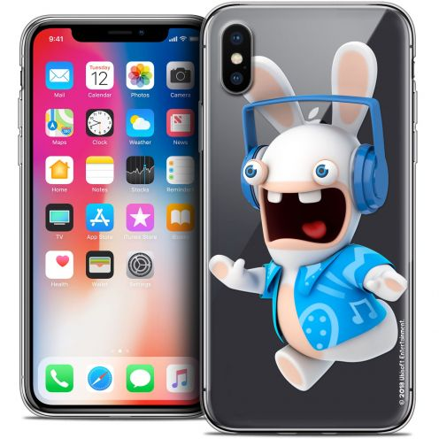 """Coque Gel Apple iPhone Xs / X (5.8"""") Extra Fine Lapins Crétins™ - Techno Lapin"""