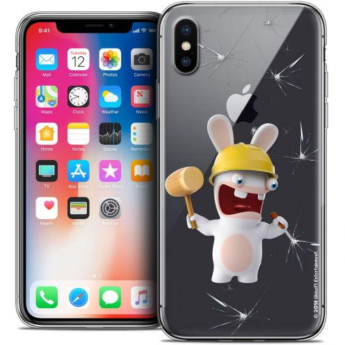 """Coque Gel Apple iPhone Xs / X (5.8"""") Extra Fine Lapins Crétins™ - Breaker"""