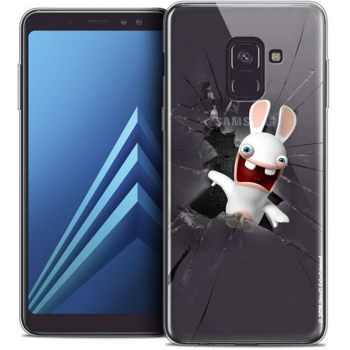 "Coque Gel Samsung Galaxy A8+ (2018) A730 (6.0"") Extra Fine Lapins Crétins™ - Breaking Glass"