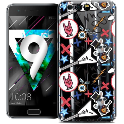 """Coque Gel Huawei Honor 9 (5.15"""") Extra Fine Lapins Crétins™ - Rock Pattern"""