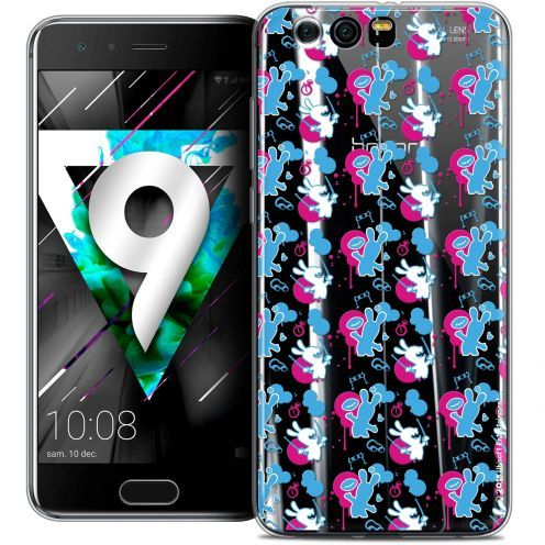 """Coque Gel Huawei Honor 9 (5.15"""") Extra Fine Lapins Crétins™ - Rugby Pattern"""