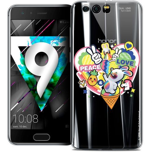 """Coque Gel Huawei Honor 9 (5.15"""") Extra Fine Lapins Crétins™ - Peace And Love"""
