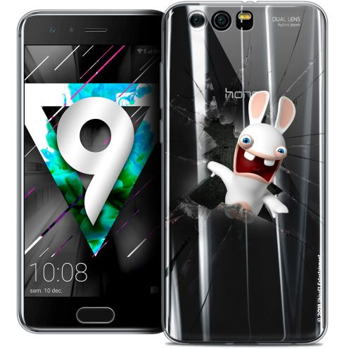 """Coque Gel Huawei Honor 9 (5.15"""") Extra Fine Lapins Crétins™ - Breaking Glass"""