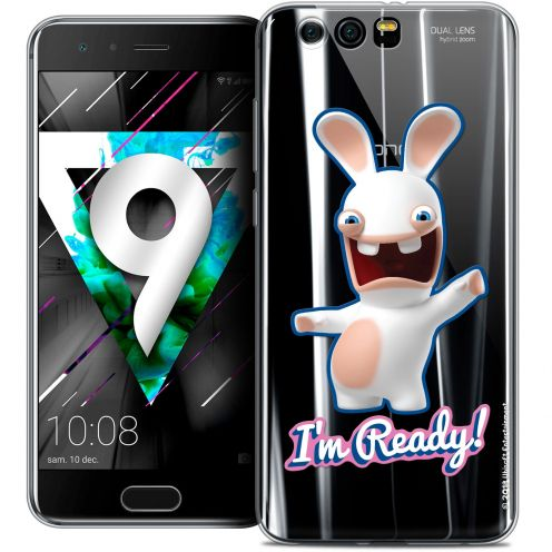 """Coque Gel Huawei Honor 9 (5.15"""") Extra Fine Lapins Crétins™ - I'm Ready !"""