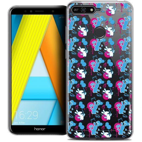 "Coque Gel Honor 7A (5.7"") Extra Fine Lapins Crétins™ - Rugby Pattern"