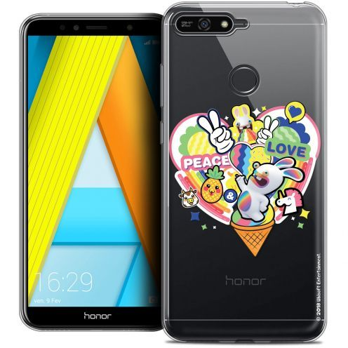 "Coque Gel Honor 7A (5.7"") Extra Fine Lapins Crétins™ - Peace And Love"