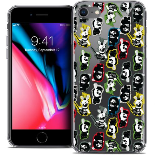 "Coque Gel Apple iPhone 8 (4.7"") Extra Fine Lapins Crétins™ - Punk Pattern"