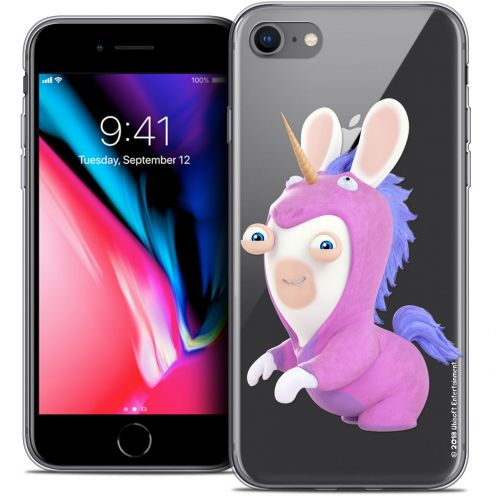 """Coque Gel Apple iPhone 8 (4.7"""") Extra Fine Lapins Crétins™ - Licorne"""