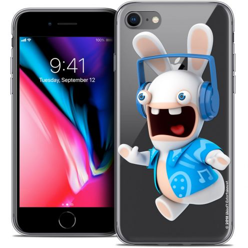 "Coque Gel Apple iPhone 8 (4.7"") Extra Fine Lapins Crétins™ - Techno Lapin"