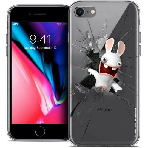 """Coque Gel Apple iPhone 8 (4.7"""") Extra Fine Lapins Crétins™ - Breaking Glass"""