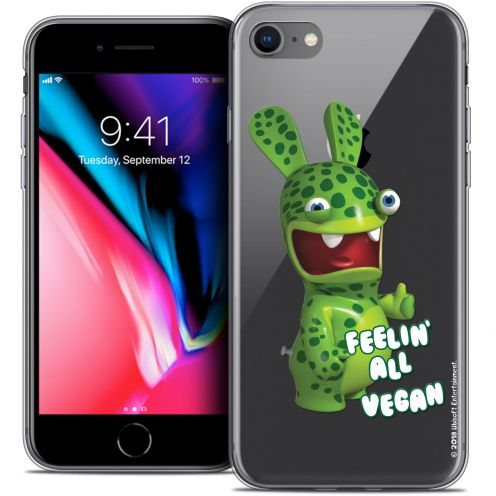"Coque Gel Apple iPhone 8 (4.7"") Extra Fine Lapins Crétins™ - Vegan"