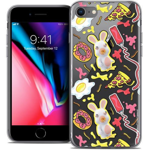 "Coque Gel Apple iPhone 7 (4.7"") Extra Fine Lapins Crétins™ - Egg Pattern"