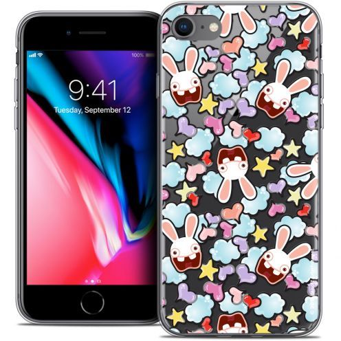 "Coque Gel Apple iPhone 7 (4.7"") Extra Fine Lapins Crétins™ - Love Pattern"
