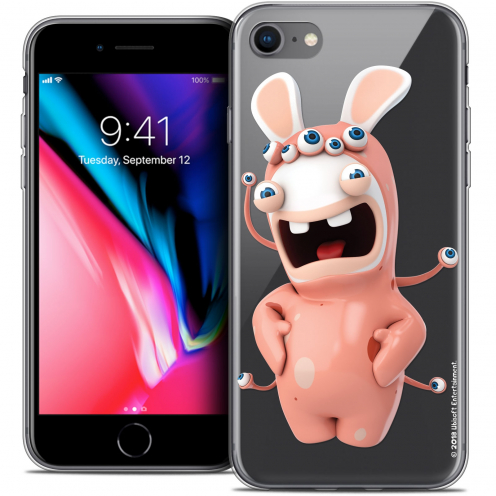 """Coque Gel Apple iPhone 7 (4.7"""") Extra Fine Lapins Crétins™ - Extraterrestre"""