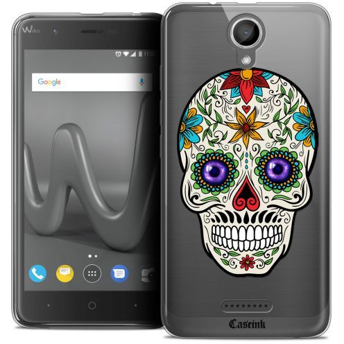 "Coque Crystal Gel Wiko Harry (5"") Extra Fine Skull - Maria's Flower"