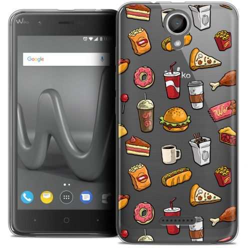 "Coque Crystal Gel Wiko Harry (5"") Extra Fine Foodie - Fast Food"