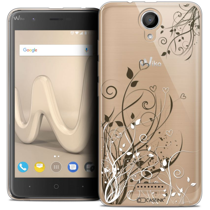 """Coque Crystal Gel Wiko Harry (5"""") Extra Fine Love - Hearts Flowers"""